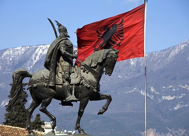 прапор і герб Албанії