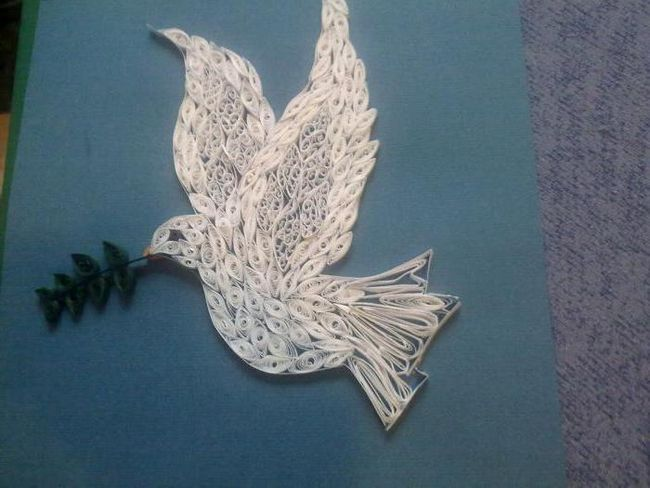голуб миру аплікація з паперу