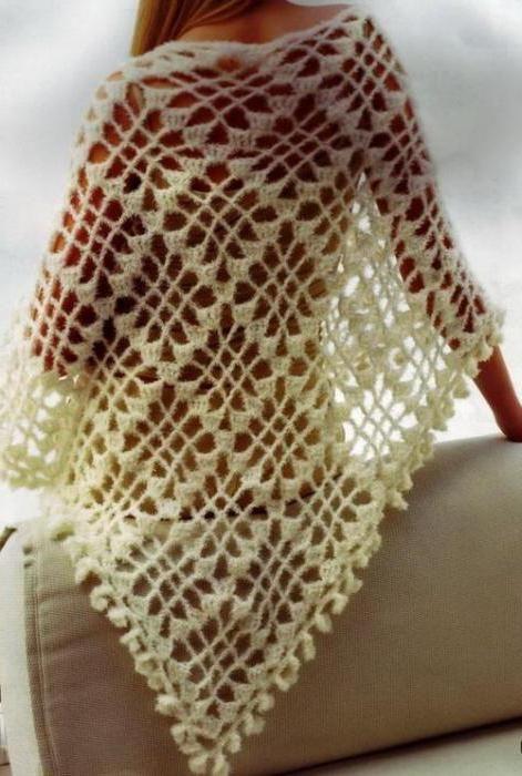 Фото - Ажурна шаль гачком: схема і опис для початківців