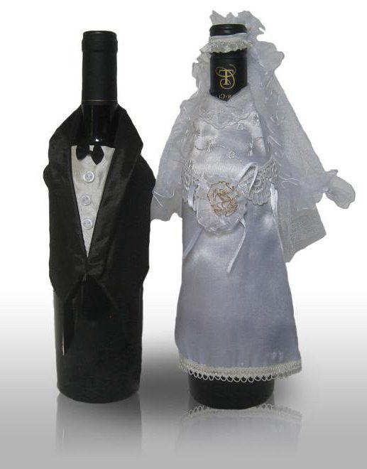 пляшки шампанського на весілля своїми руками