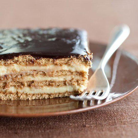 торт без випічки з печива і сметани