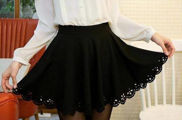Фото - Чорна спідниця-сонце: як зшити і з чим носити?