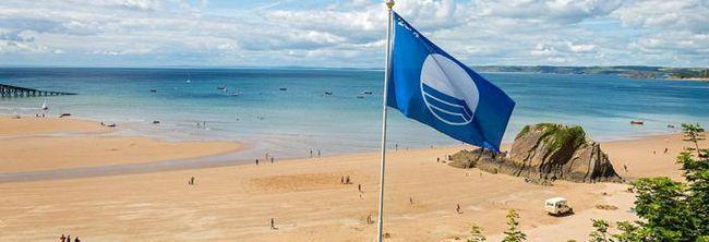 прапор блакитного кольору