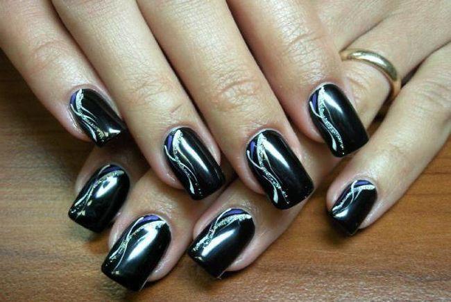 Фото - Дизайн чорних нігтів: ідеї, поєднання і технологія. Чорно-білий дизайн нігтів