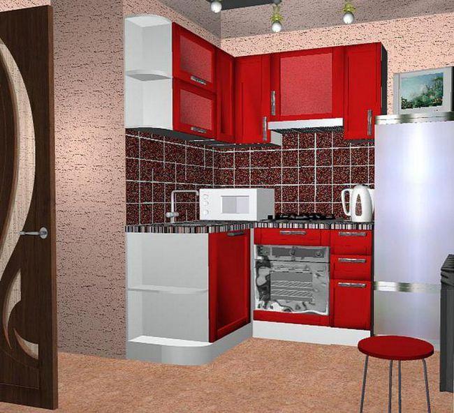 дизайн малогабартной кухні 5 кв м