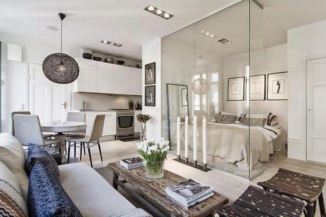 Фото - Дизайн однокімнатної квартири 30 кв. М, фото