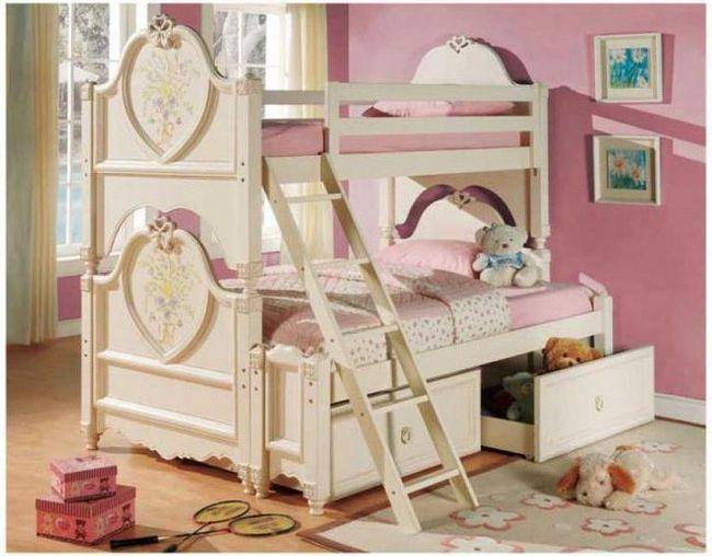 двох'ярусне ліжко для дівчаток підлітків