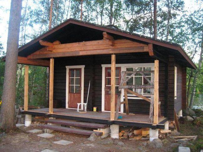 одноповерхові фінські дерев'яні будинки