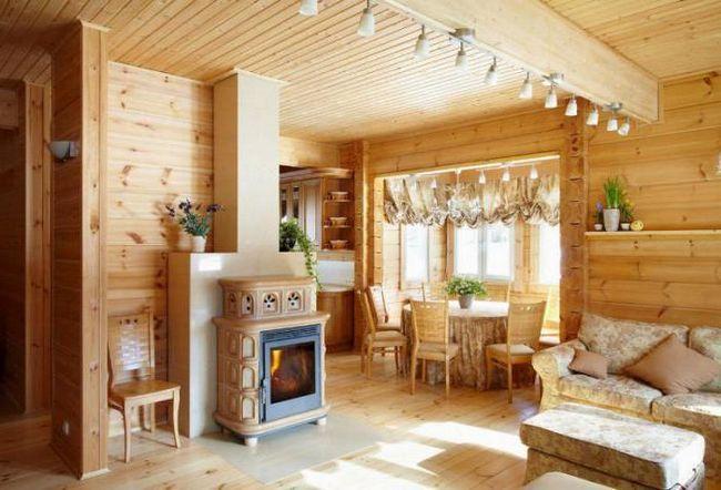 одноповерховий фінський будинок з бруса