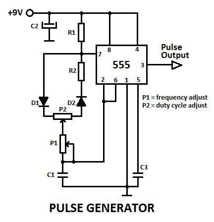 схема генератора імпульсів