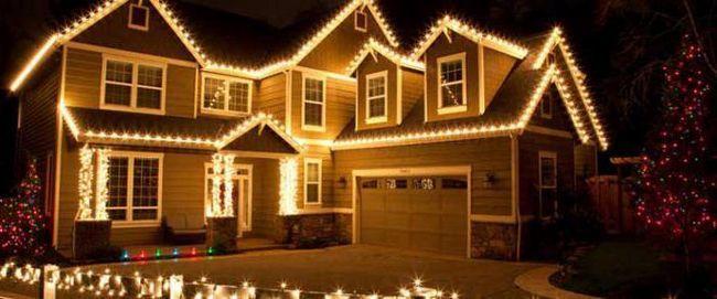 Фото - Гірлянди світлодіодні для прикраси будинку і вулиці