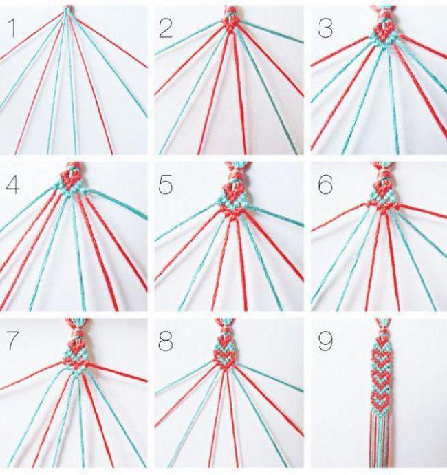 прості браслети з ниток