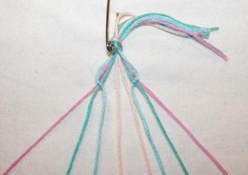 як зробити браслет з ниток своїми руками
