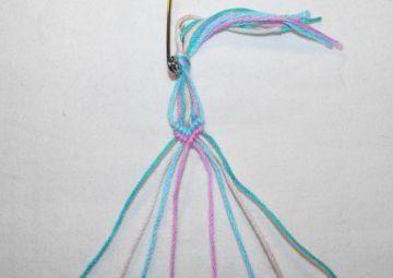 як плести браслет з ниток для початківців