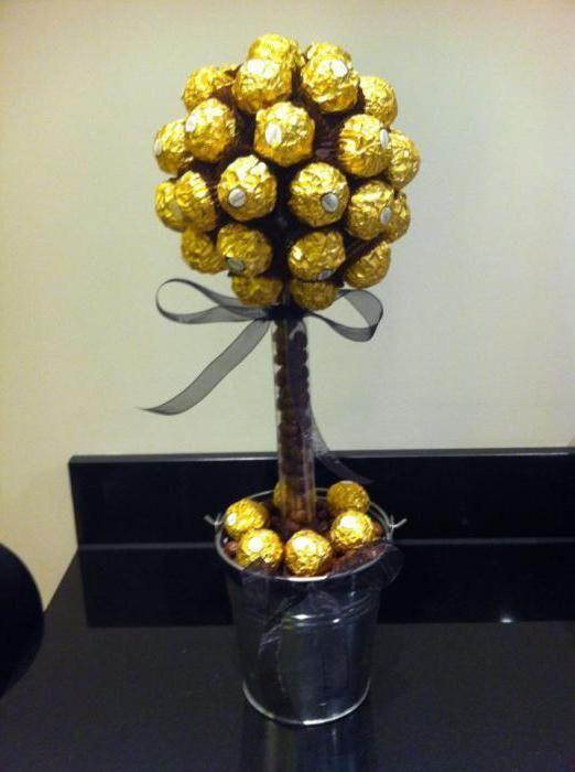 гарний подарунок з цукерок