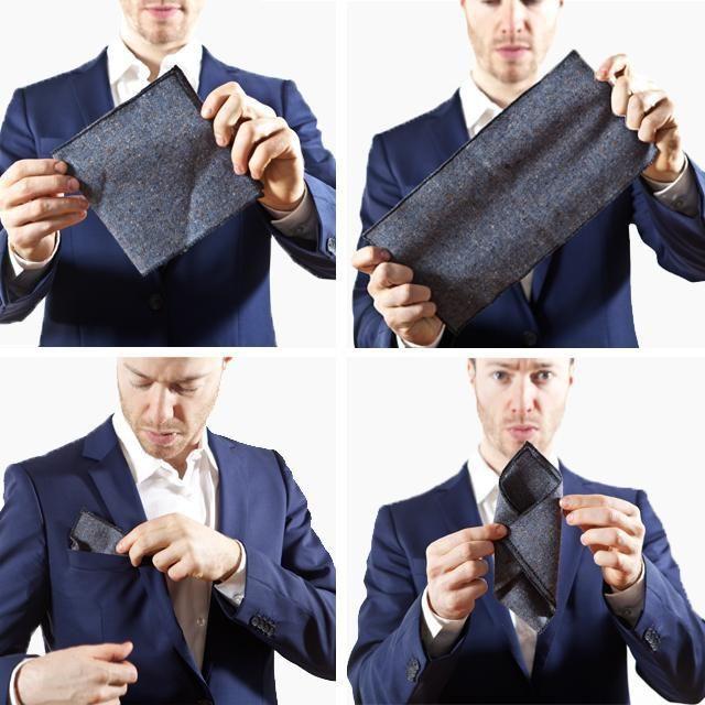 Фото - Як скласти хустку в кишеню піджака: фото