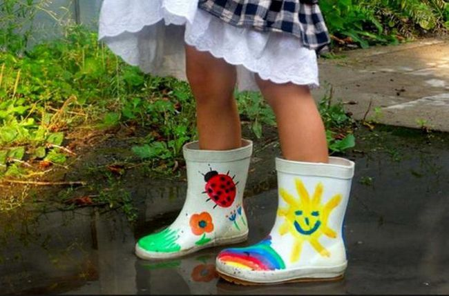 гумові чобітки на дівчинку