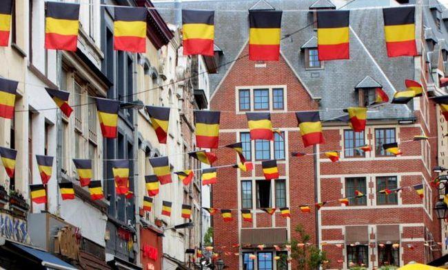 Прапор Бельгії, фото