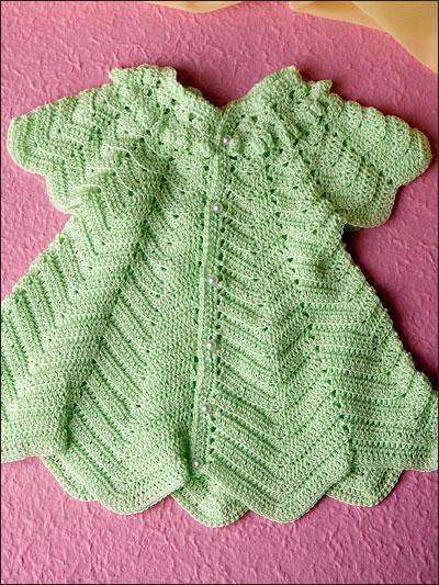 Фото - Кокетка для дитячого сукні гачком: схема. В'язання гачком для дівчаток