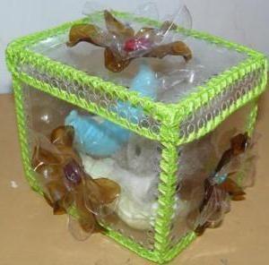 скринька з пластикових пляшок своїми руками покроково
