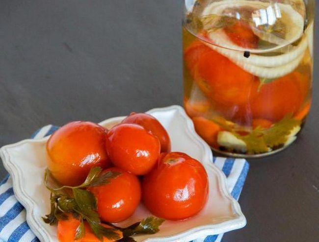 Фото - Мариновані помідори з кислотою лимонною. Рецепт приготування