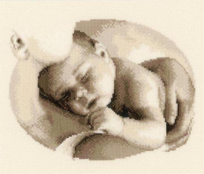 вишита метрика для новонародженого