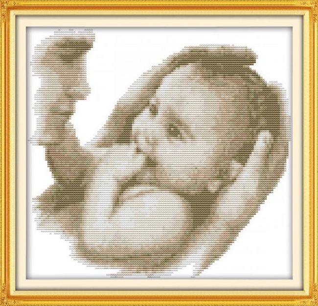 схема вишивки метрика для новонародженого