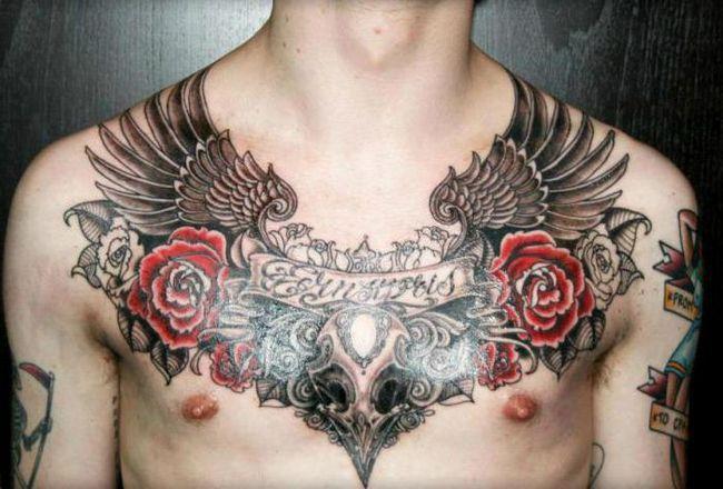 Фото - Чоловічі тату на грудині: різноманітність стилів і варіантів зображень