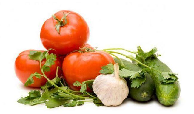 огірок і помідор