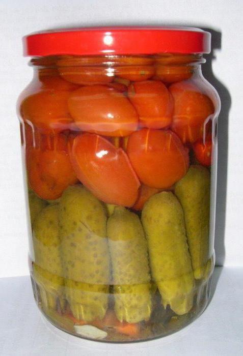 огірки і помідори на зиму рецепти
