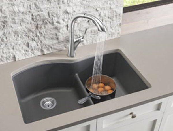 кухонна мийка зі штучного каменю polygran f 07