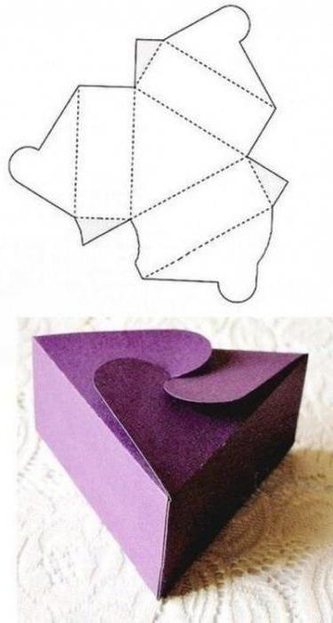коробочка з картону своїми руками схеми прості