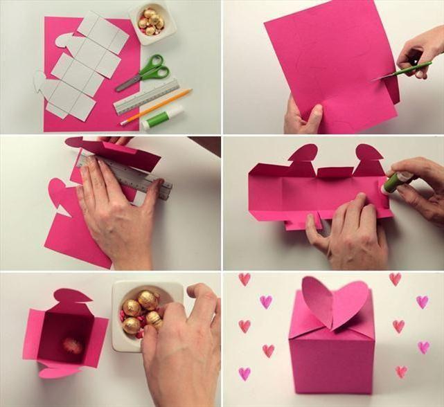 коробочка з картону своїми руками схеми