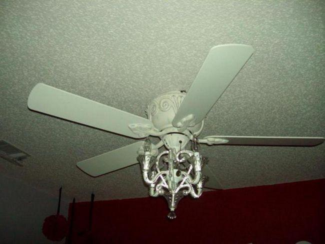 люстра вентилятор стельовий схема