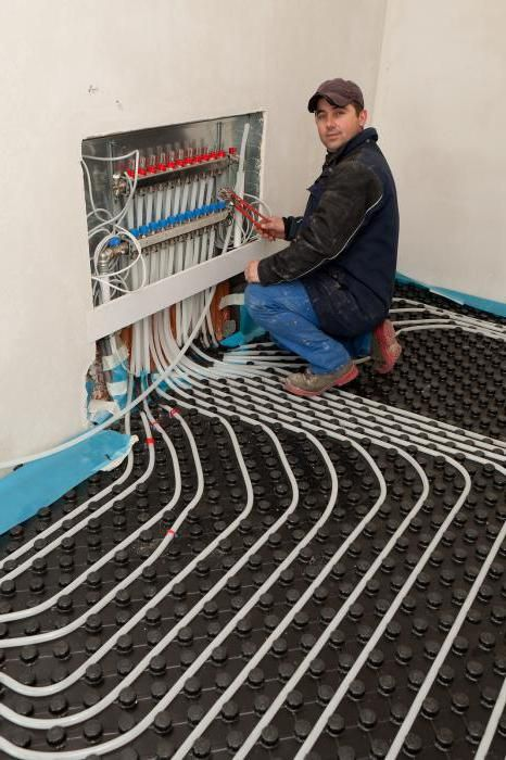 Фото - Профільні монтажні мати для теплої підлоги водяного