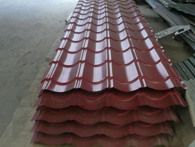 стандартні розміри металочерепиці для покрівлі