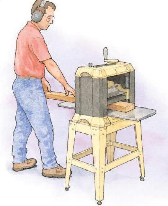 Фото - Рейсмусовий верстат своїми руками. Схема рейсмусового верстата