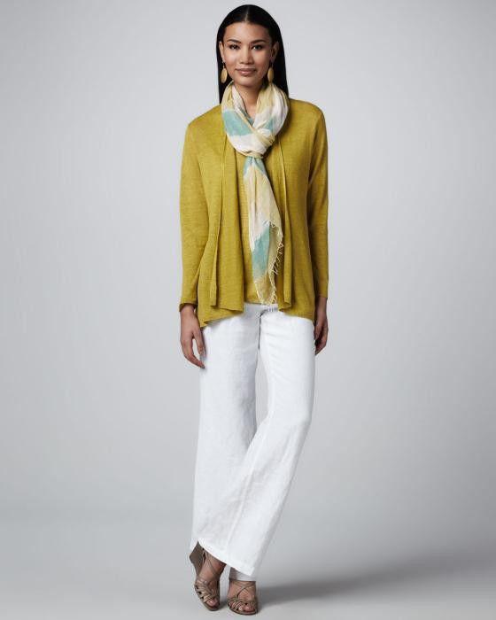 Фото - З чим носити жіночі брюки з льону?