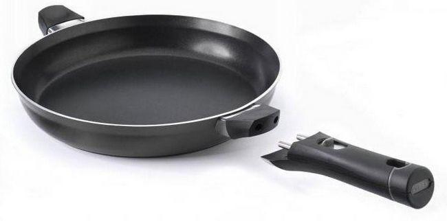 чавунна сковорода зі знімною ручкою