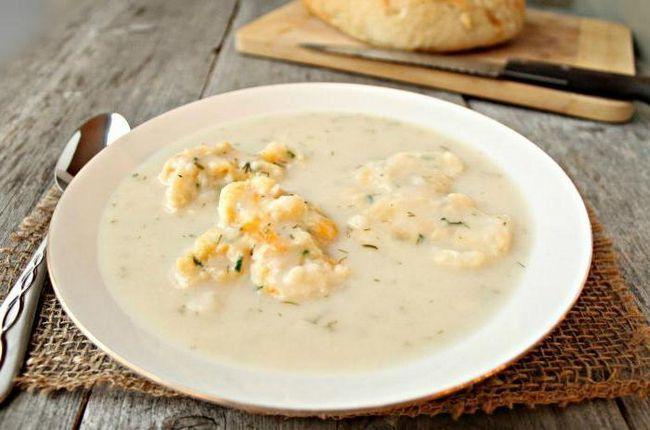 вершковий суп рецепт