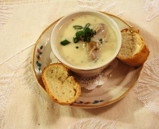 вершковий суп з куркою