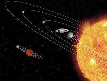 який вчений вперше описав сонячну систему