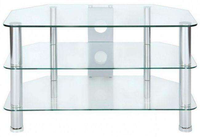Фото - Скляна підставка під телевізор настільна, на тумбу (фото)
