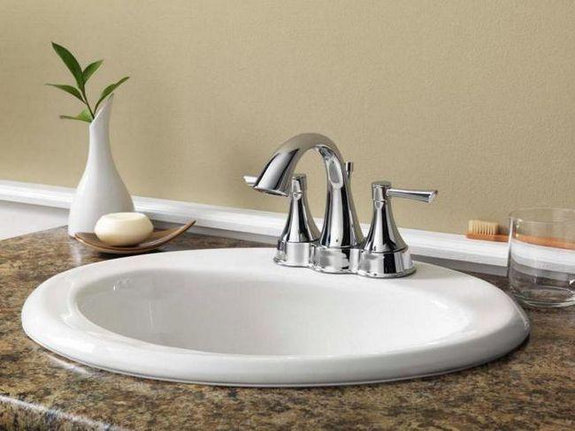 Фото - Вбудувати раковину у ванній кімнаті: особливості монтажу і різновиди вбудовуваних моделей раковин