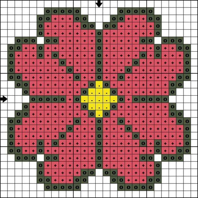 Фото - Вишивка квітки. Схема для початківців