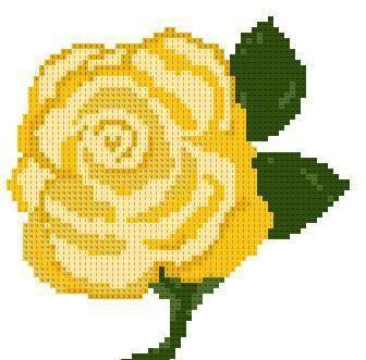 жовті троянди вишивка хрестом схема
