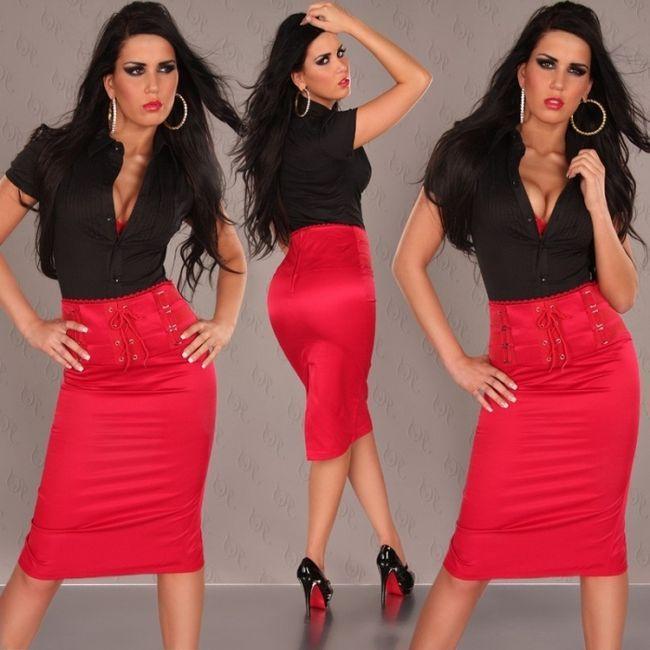 що носити з червоною спідницею