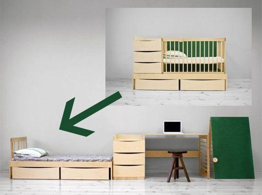 Фото - Дитяче ліжечко-трансформер - функціональне рішення за розумні гроші