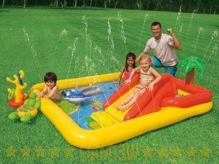 Фото - Дитячі басейни з гіркою - найкращий варіант сімейного відпочинку!