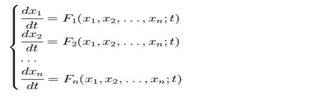Системи диференціальних рівнянь